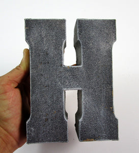 "Unique Home Decor Concrete Letter ""H"", Hand Made. Decorative Item. FREE SHIPPING!"