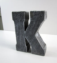 "Affordable Home Decor Concrete Letter ""K"", Hand Made. Home Decor Product. FREE SHIPPING!"