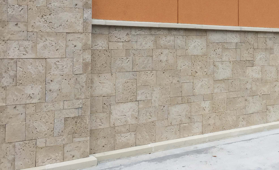 Best Coastal Decoration With Keystone Tiles Made From Concrete. Exterior Stone Wall From Keystones. FREE SHIPPING!