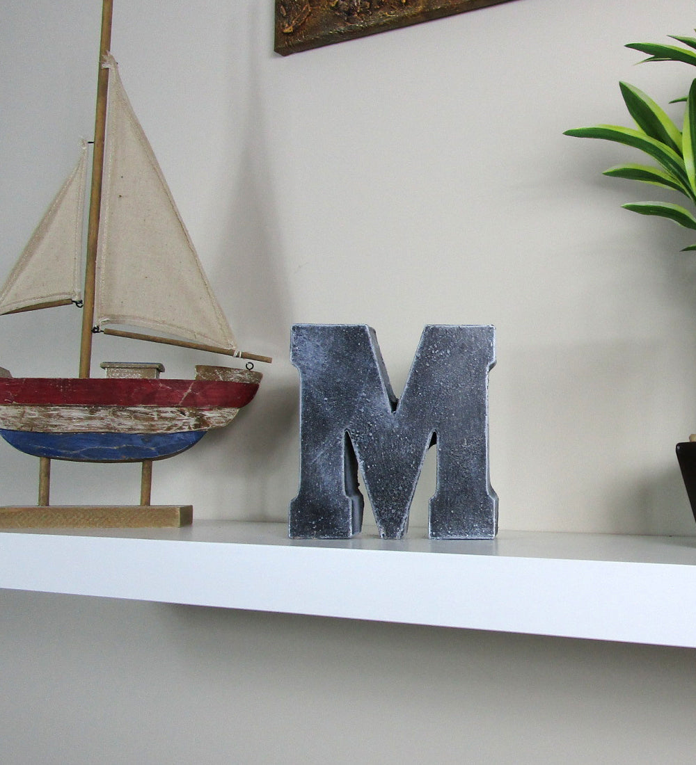"Unique Home Decor: Unique Home Interior Decorating Concrete Letter ""M"", Hand"
