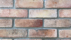 NEW STYLE BRICK VENEERS - TEQUILA SUNRISE COLOR. Thin Brick Veneers. Thin Brick Tiles. Brick Veneer Walls. FREE SHIPPING!