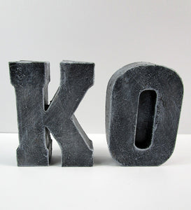 "Cheap Home Decor Concrete Letter ""O"", Hand Made. Decorate Your Home Interior. FREE SHIPPING!"