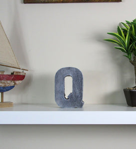 "Decorate Your Home Interior With New Concrete Letter ""Q"", Hand Made.  Great Apartment Decorating Item. FREE SHIPPING!"