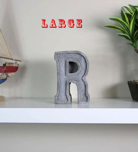 "New Home Decor Concrete Letter ""R"", Hand Made. Unique House Decor. FREE SHIPPING!"