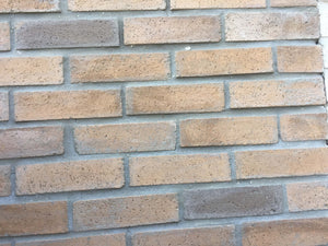 Sample of WIRECUT STYLE BRICK VENEERS - SANDSTONE COLOR. FREE SHIPPING!