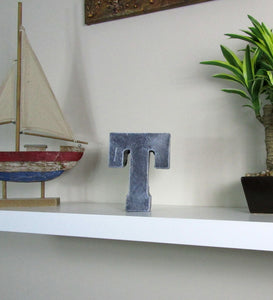 "Living Room Decoration Concrete Letter ""T"", Hand Made. Decorate Your Living Room. FREE SHIPPING!"