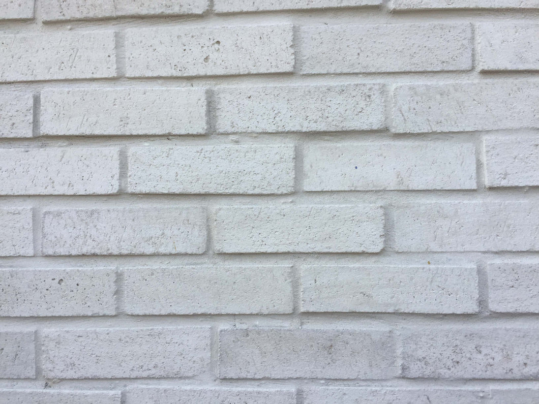Sample  of WIRECUT STYLE BRICK VENEERS - WHITE COLOR.