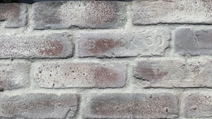 WHITEWASHED CHICAGO STYLE BRICK VENEER. FREE SHIPPING!