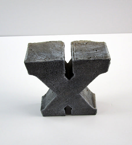 "Rustic Home Decor Concrete Letter ""X"", Hand Made. Kitchen Decor. FREE SHIPPING!"