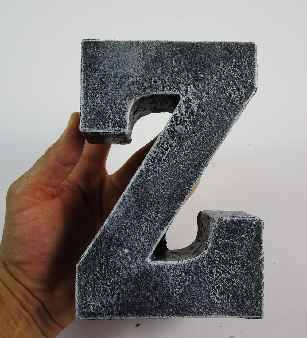 "Modern Home Decor Concrete Letter ""Z"", Hand Made. Prefect Kitchen Decoration. FREE SHIPPING!"