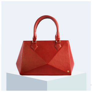 Geo Tote in Ruby Red
