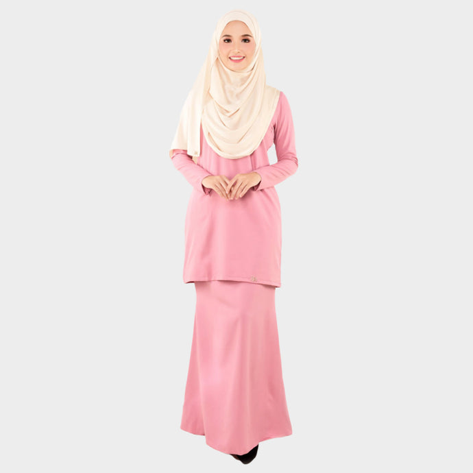 Lady Bella Kurung Dusty Pink