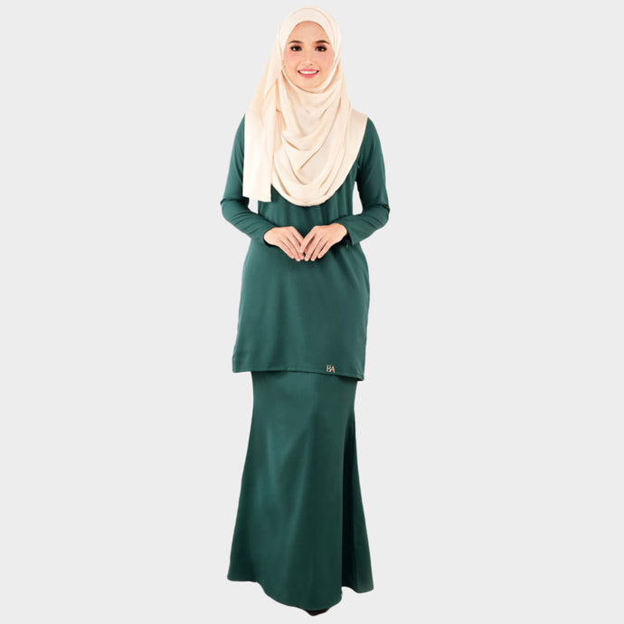 Lady Bella Kurung Emerald Green