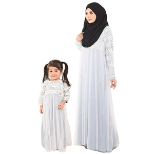 Kylie Dress Mom & Kid Pastel Aqua