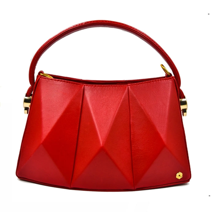 Geo Minibag in Ruby Red