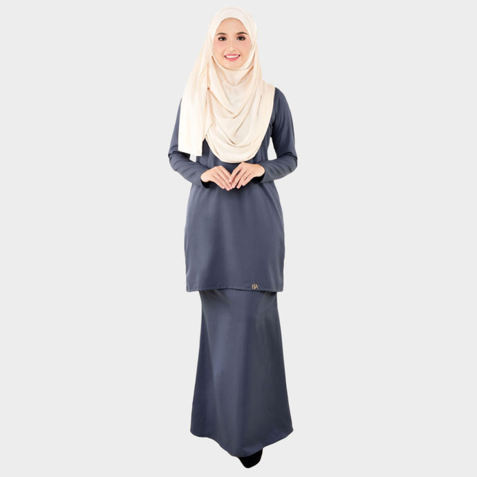 Lady Bella Kurung Smokey Grey