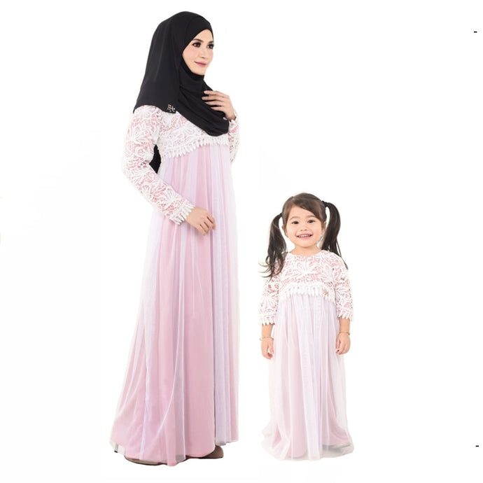 Kylie Dress Mom & Kid Dusty Pink