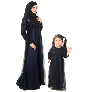 Kylie Dress Mom & Kid Navy Blue