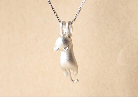 925 sterling silver elegant cat pendant necklace mycoolcats 925 sterling silver elegant cat pendant necklace mozeypictures Choice Image
