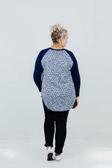 It All Started With A Raglan - Midnight Blue
