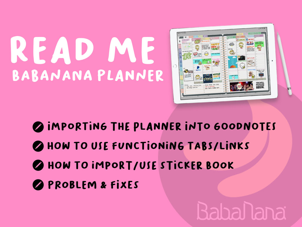Read Me BabaNana Planner User Guide