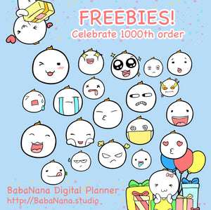 Freebies Digital Sticker!! Now, We reach to 1000th order!!