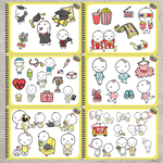 400+ New Hand Drawn Stickers Book Bundle Limited Edition for iPad Planners Goodnotes