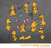 Kawaii Apatosaurus Dinosaur Set 2 Digital Planner Stickers for iPad Planners Goodnotes