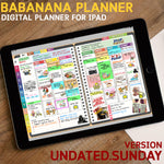 BabaNana Digital Planner for GoodNotes with functioning tabs : UNDATED SUNDAY Version