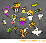 Happy Halloween Set1 Digital Planner Stickers for iPad Planners Goodnotes