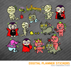 Happy Halloween Set2 Digital Planner Stickers for iPad Planners Goodnotes