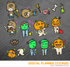 Happy Halloween Set3 Digital Planner Stickers for iPad Planners Goodnotes