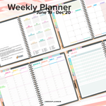 19 Month (Jun'19-Dec'20) Digital Weekly Planner with 10 Premium Covers and Sticker Book - Civilian Time (12 hour AM/PM)