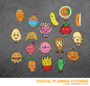 Kawaii Desserts Digital Planner Stickers for iPad Planners Goodnotes