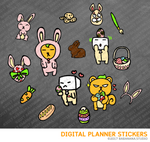 Kawaii Easter Day Digital Planner Stickers for iPad Planners Goodnotes