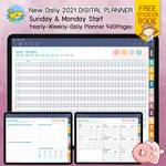 New Daily 2021 Digital Planner with 10 Premium Covers and 2 Sticker Book - Limited Edition