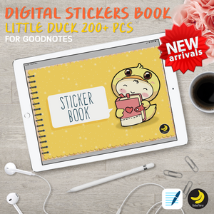 Little Duck Stickers Book for iPad Planners Goodnotes