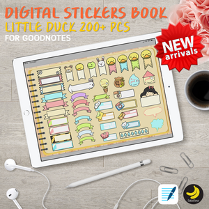200+ New Little Duck Stickers Book for iPad Planners Goodnotes