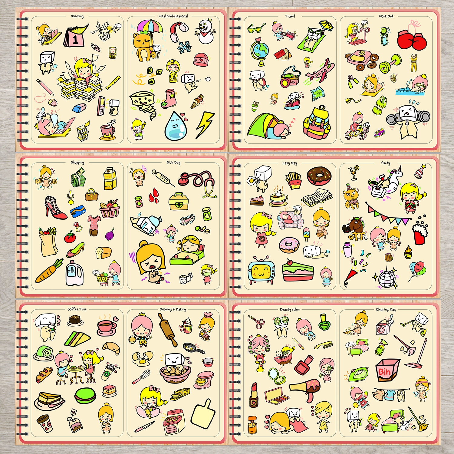 BabaNana Digital Stickers Book