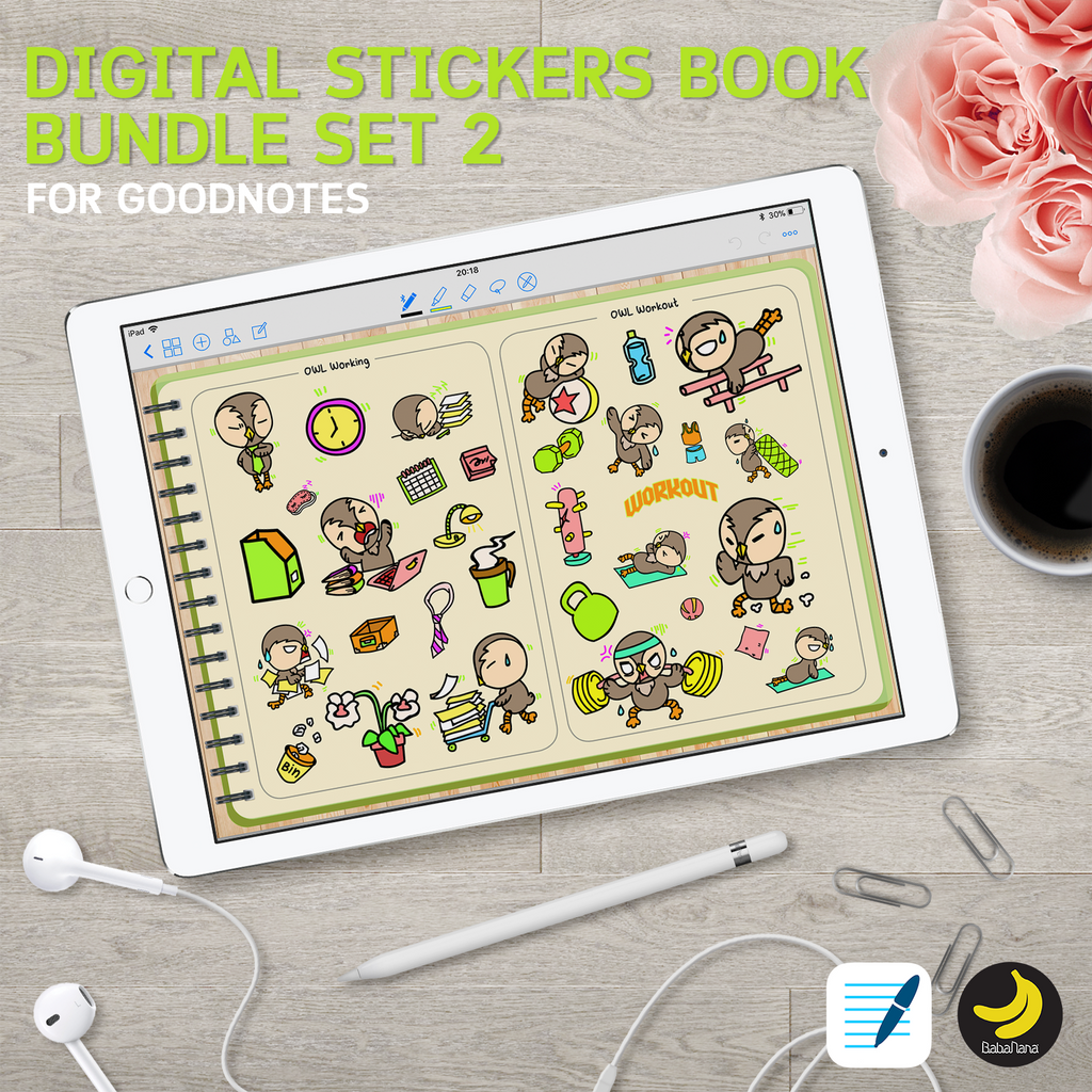 [Hot Value Deal] Stickers Book Bundle Set 2 for iPad Planners Goodnotes