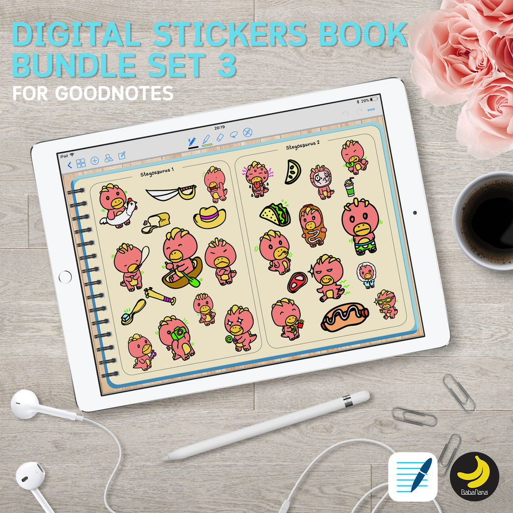 [Hot Value Deal] Stickers Book Bundle Set 3 for iPad Planners Goodnotes