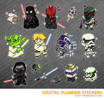 Star war Digital Planner Stickers for iPad Planners Goodnotes
