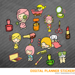 Beauty Salon & Spa Digital Planner Stickers for iPad Planners Goodnotes