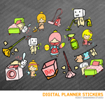 Cleaning Day Digital Planner Stickers for iPad Planners Goodnotes