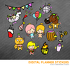 Funny Party Digital Planner Stickers for iPad Planners Goodnotes