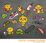 Kawaii Squirrel WorkOut Digital Planner Stickers for iPad Planners Goodnotes