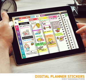 Kawaii Christmas Digital Planner Stickers for iPad Planners Goodnotes