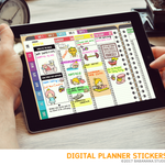 Kawaii dinosaur mix Digital Planner Stickers for iPad Planners Goodnotes