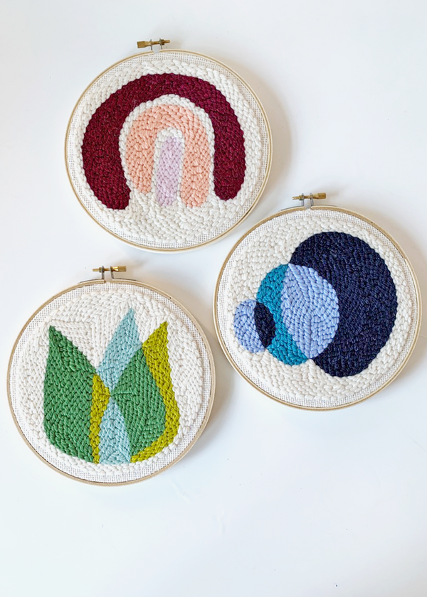 "Introduction to Punch Needle Craft Kit & Live Workshop - 7"" Hoop"