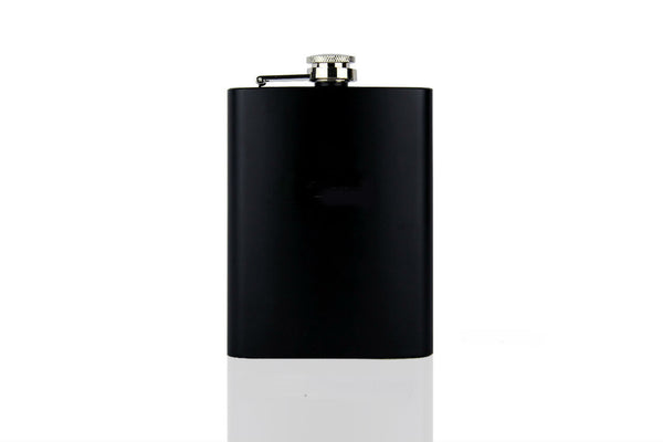 Stainless Steel Matt Black Hip Flask - Motus Store